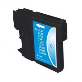 Cartucho Brother LC980C LC1100C Cyan Compatible